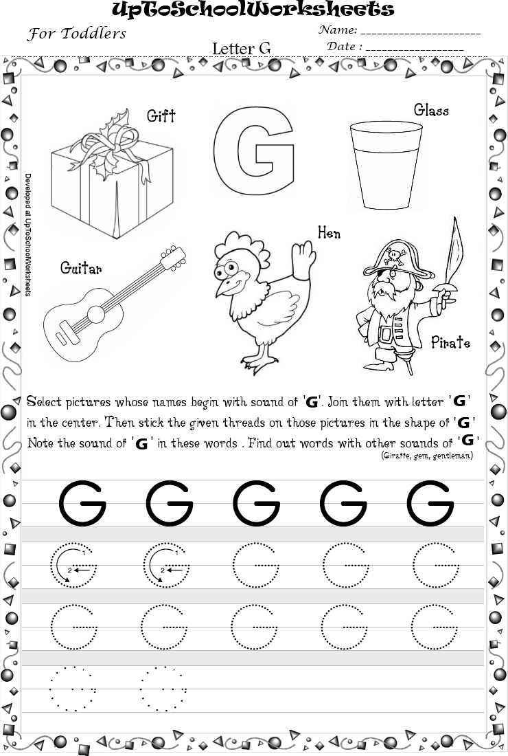 Printables Letter G Worksheets For Kindergarten letter g worksheets and letters on pinterest