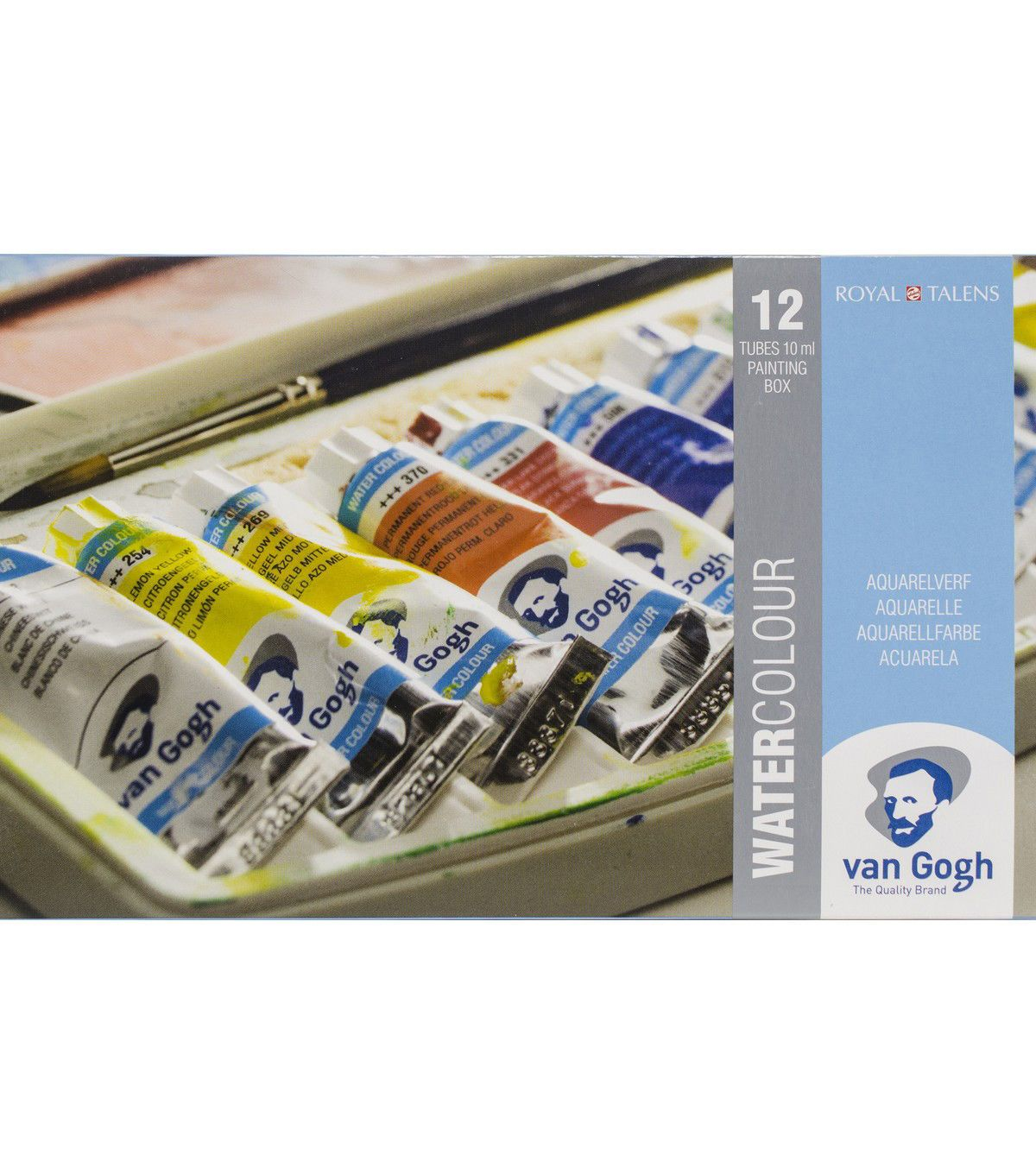 Van Gogh Watercolour 12 Tubes Plastic Pocket Box Products Van