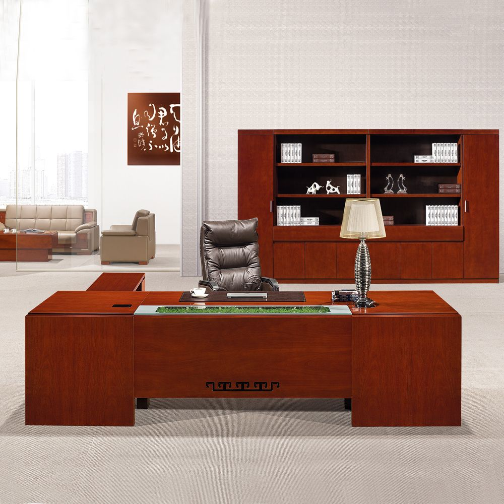 High Quality L Shape Wood Veneer Executive Table, MDF Office Table,Office Desk, View L