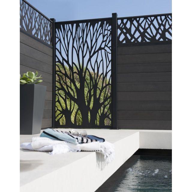 Panneau Composite Motif Naturel Idaho 2 Poteaux Castorama Avec Images Cloture Jardin Amenagement Jardin Idee Deco Exterieur