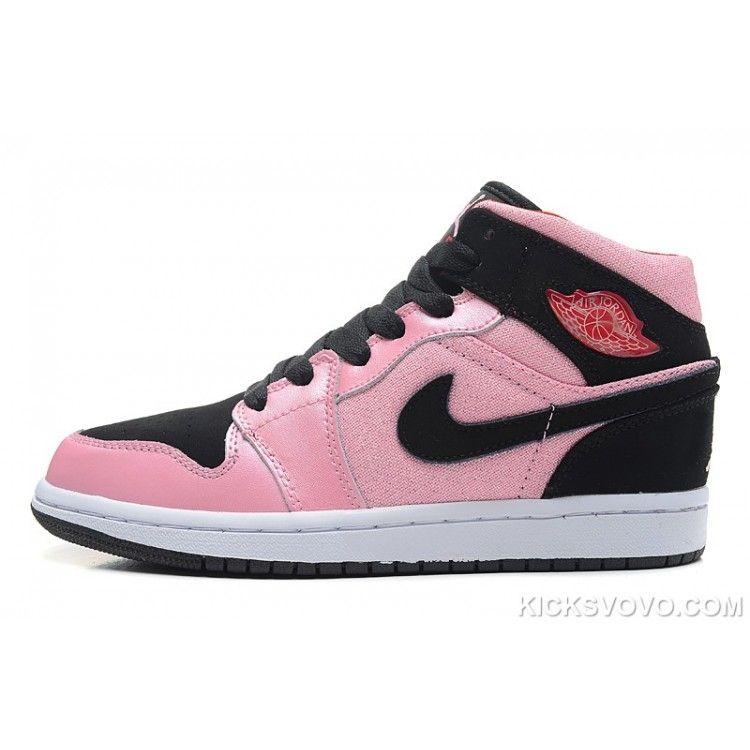 Women's Air Jordan 1 Valentines Day Grey Pink Black at kicksvovo.com