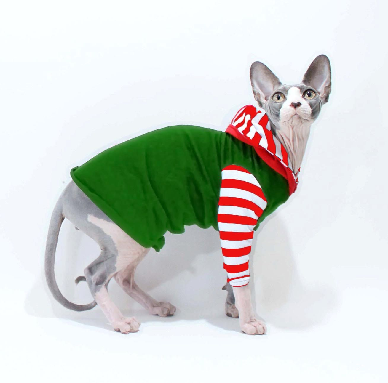 10% Off this great cat hoodie! Holiday Colors http//etsy. Chandails De  ChatSphynxCostumes Pour AnimauxAccessoires Pour AnimauxSweat