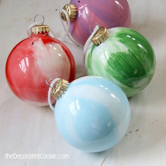 Paint Swirl Ornaments Are A Kid Friendly Christmas Craft Kids Christmas Ornaments Ornaments Diy Kids Painted Christmas Ornaments