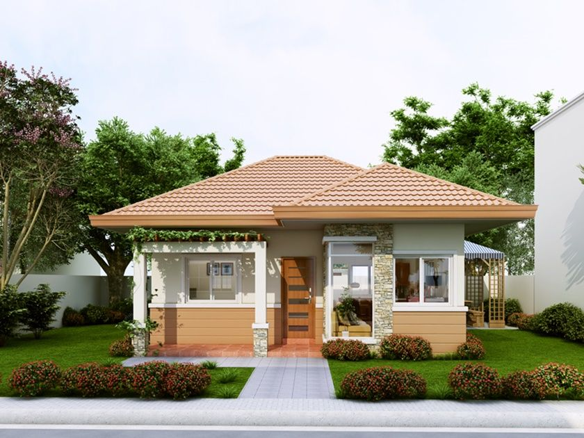 Single Story Small House Plan With A Floor Area Of 60 Square Meters Philippines House Design Small House Design Small House Design Philippines
