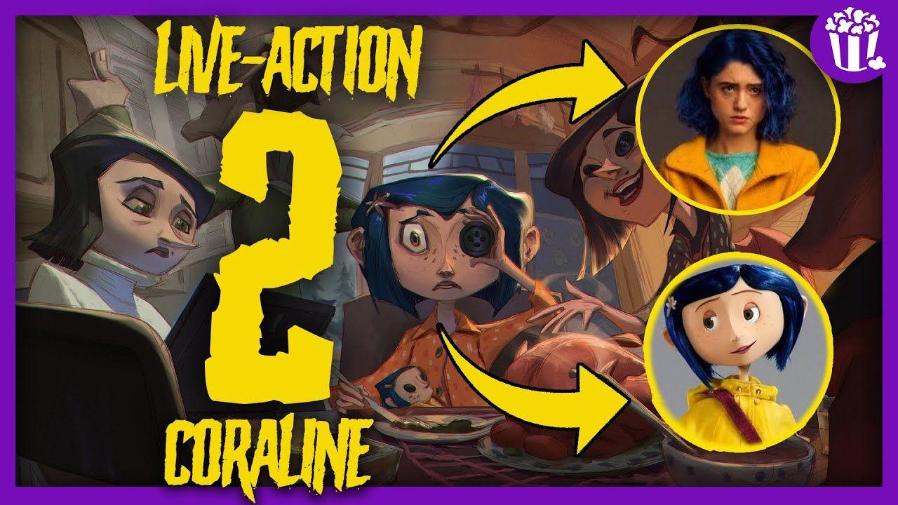 Coraline 2 Trailer Book Continuacao Lancamento Em Live Action Do Movie Em 2020 Live Action Coraline Filme Coraline