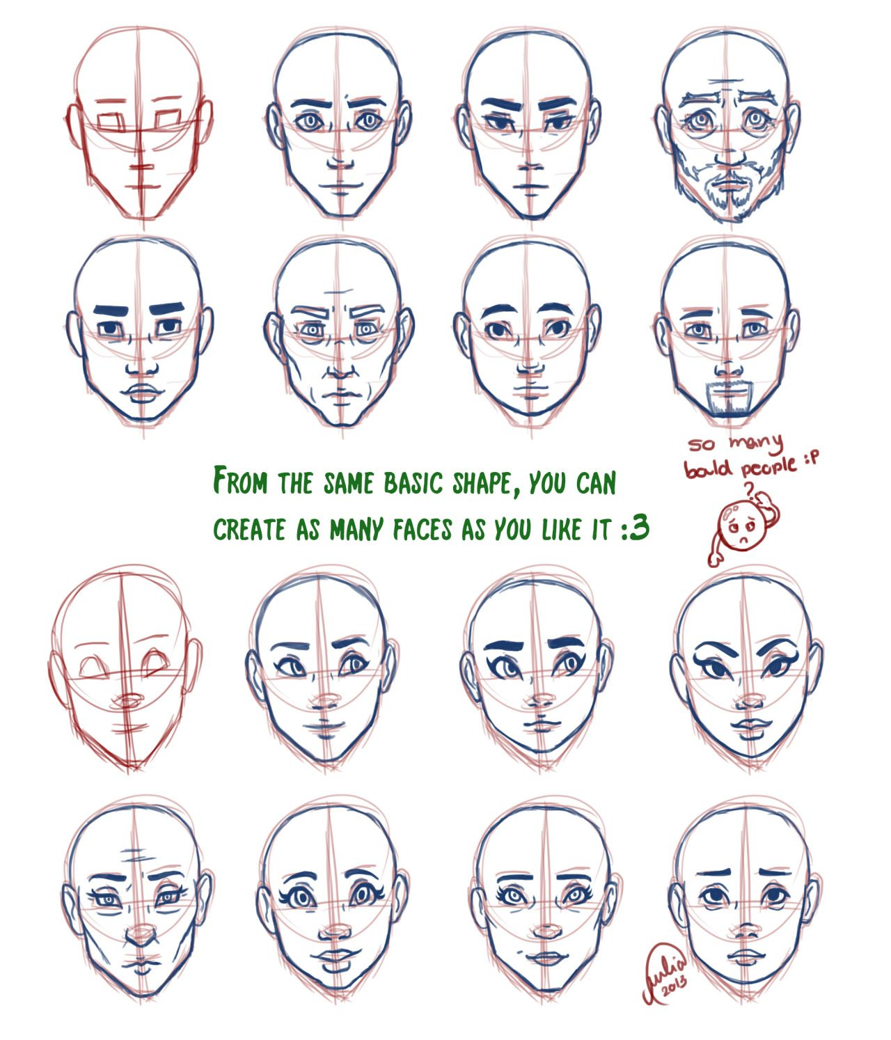 Pin By Rachel Duzenski On Art Tutorials Drawing Face Shapes Anime Face Shapes Drawing Heads