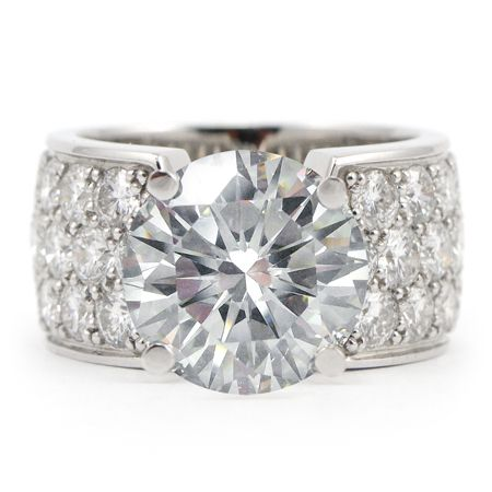 wide+band+engagement+rings | Pave Diamond Engagement Ring - Wide Band | Wixon Jewelers