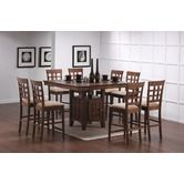 Found it at Wayfair - Hartsel 9 Piece Counter Height Dining Table with Wheat Back Bar Stool in Walnut