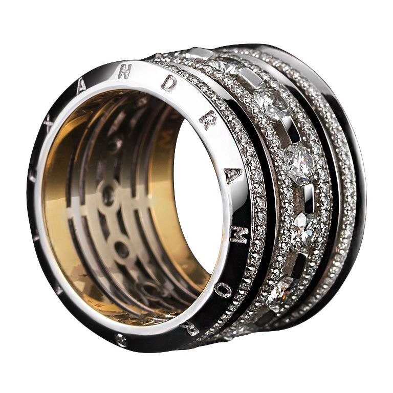 1STDIBS.COM Jewelry & Watches - Wide Brilliant - Cut Diamond Eternity Band - Alexandra Mor