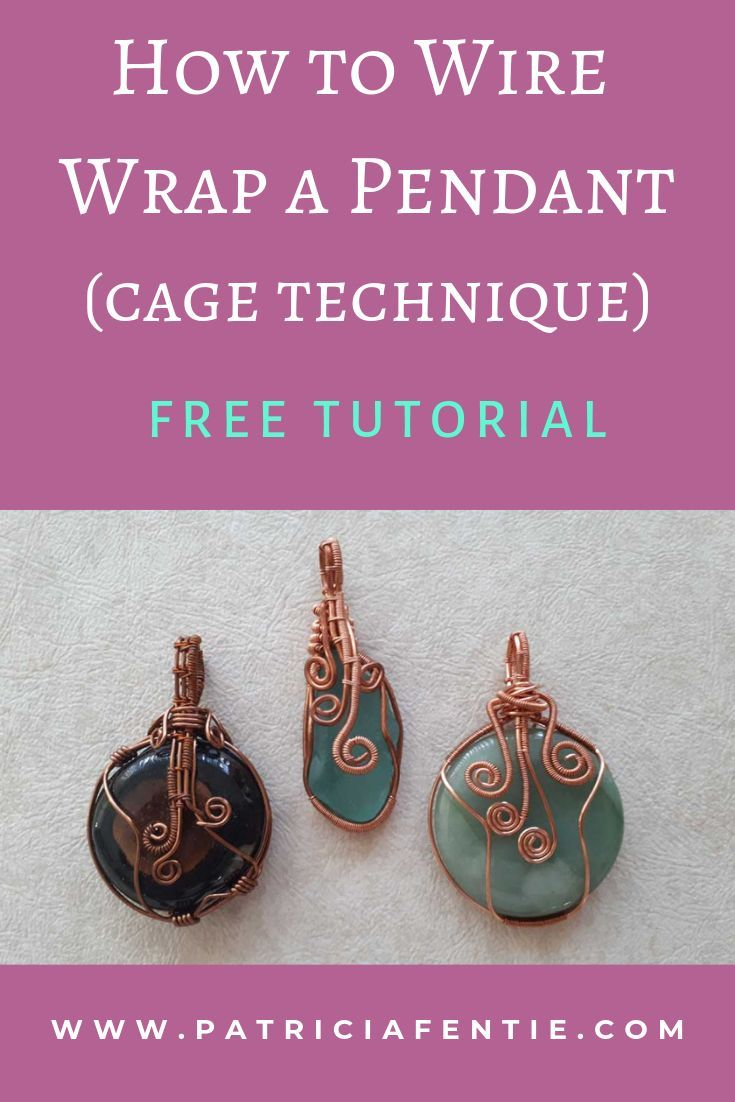 Photo of Learn how to make a wire wrapped pendant! Wire wrapping is an easy and creative …
