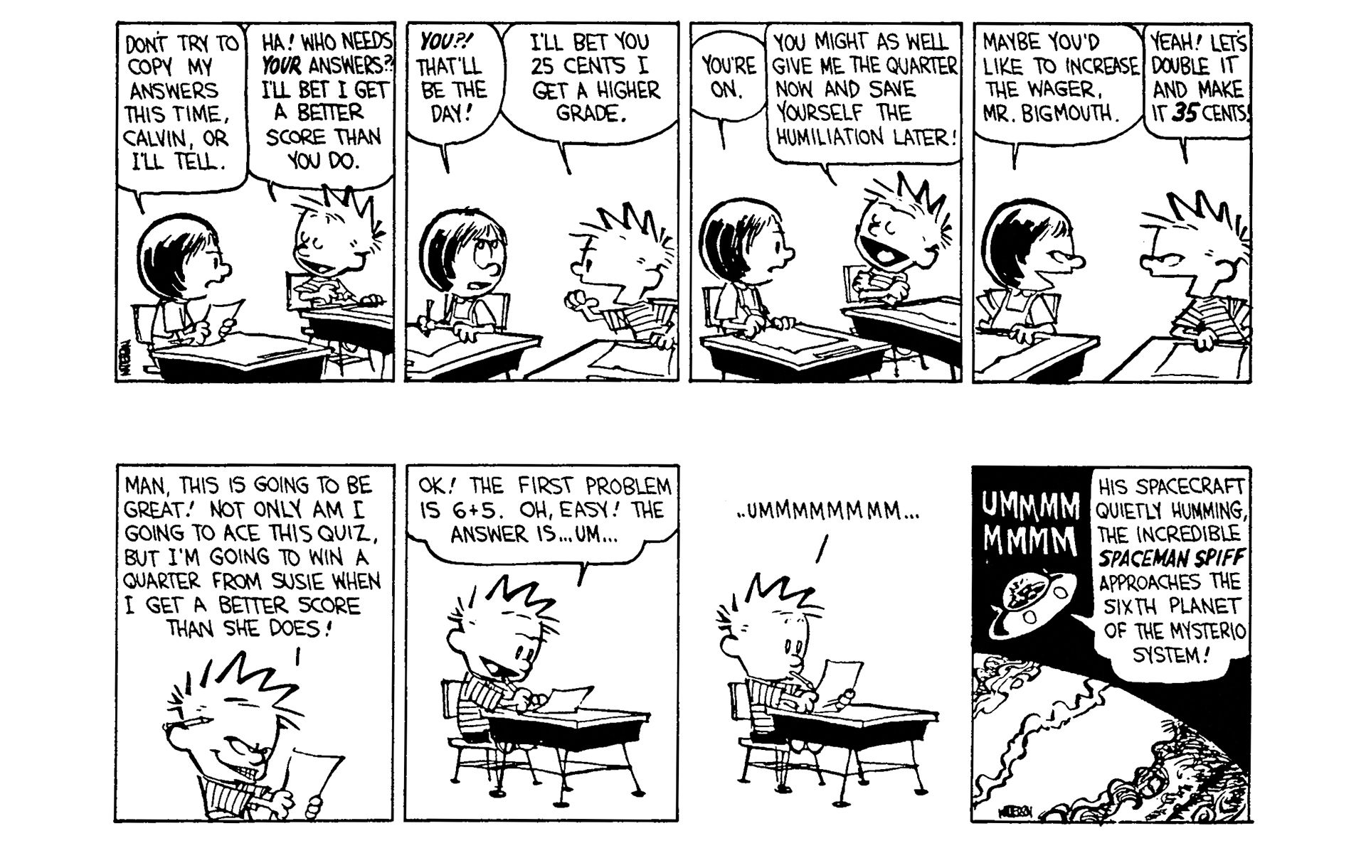 calvin and hobbes reading