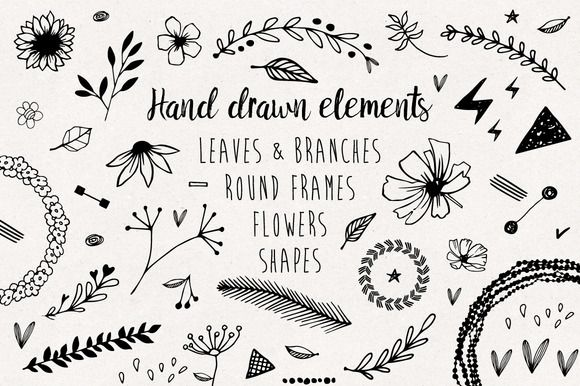 Hand drawn elements collection @creativework247