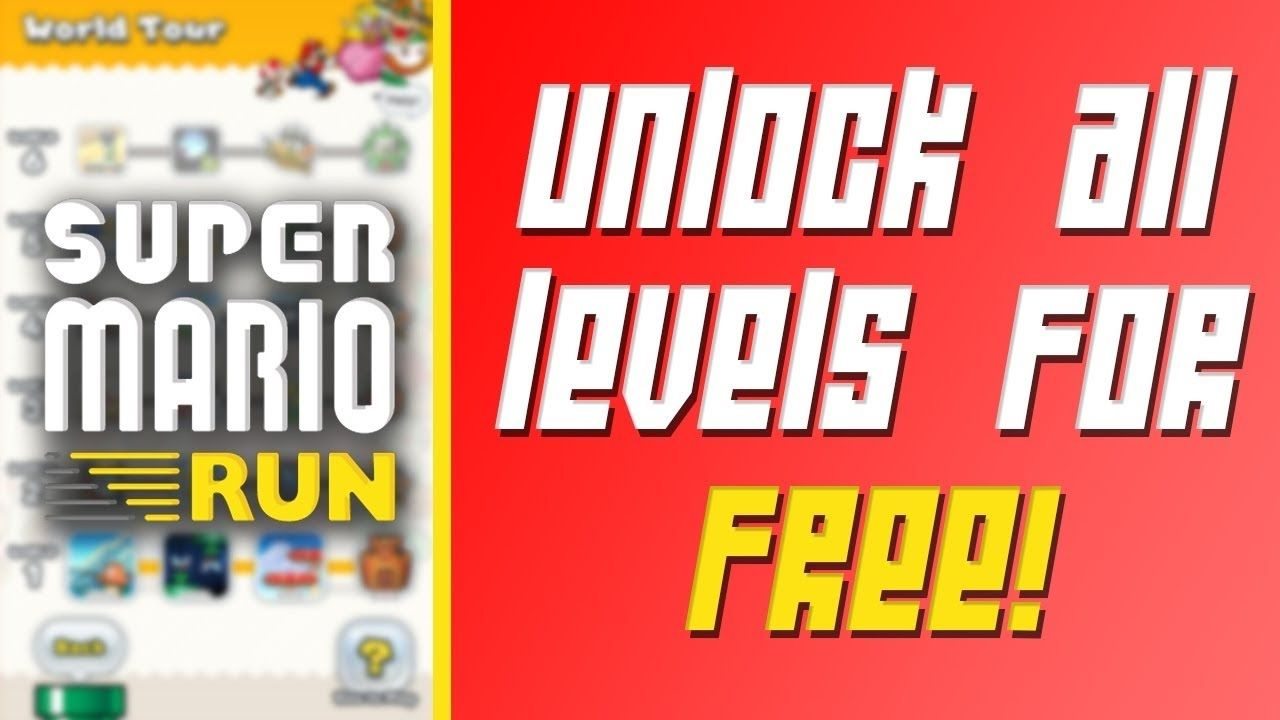 super mario run mod apk all levels unlocked