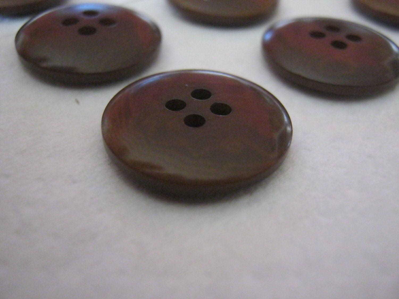 20 Stück Hosenknöpfe 4 Loch,Braun,Linsenform,Durchmesser ca.19 mm,Neu,Lübecker Knopfmanufaktur von Knopfshop auf Etsy
