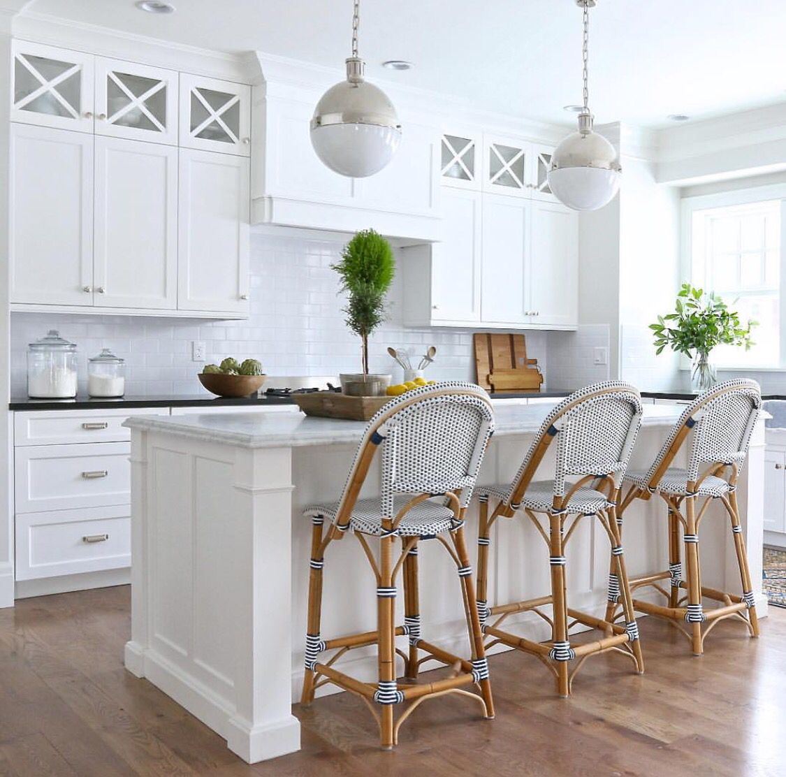 rustic wooden iron wood kitchen bar kitchens wrought white two cabinets dark floors pieces with stools island