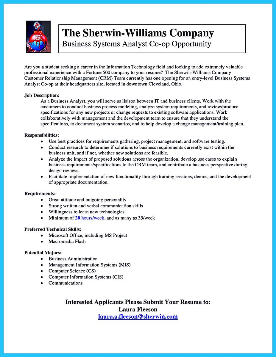 awesome best secrets about creating effective business systems analyst resume