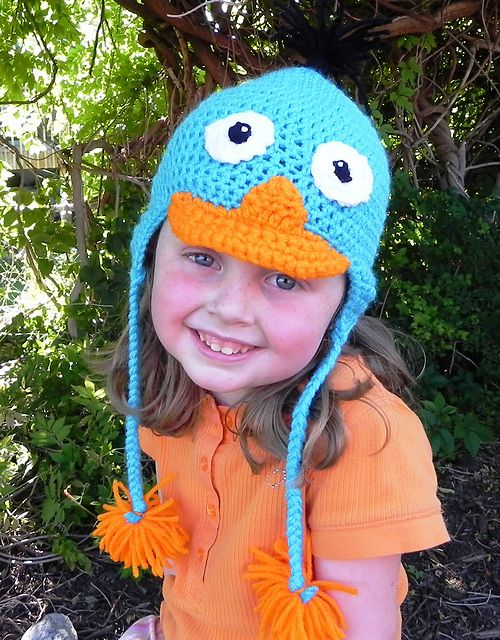 Ravelry: Perry the platypus hat pattern by Heidi Yates | Sewing ...