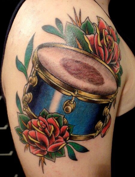 Snare drum tattoo