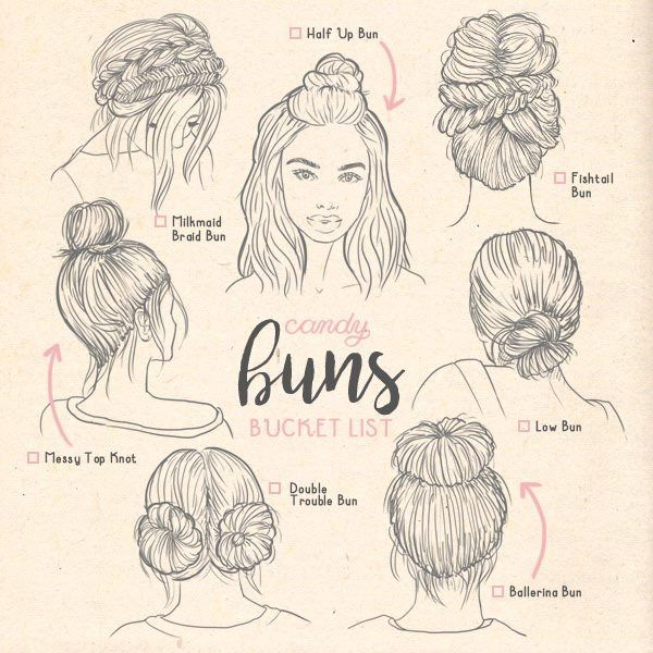 Pin By Gabbie On Fashion Illustration Hair Sketch How To Draw Hair Types Of Buns