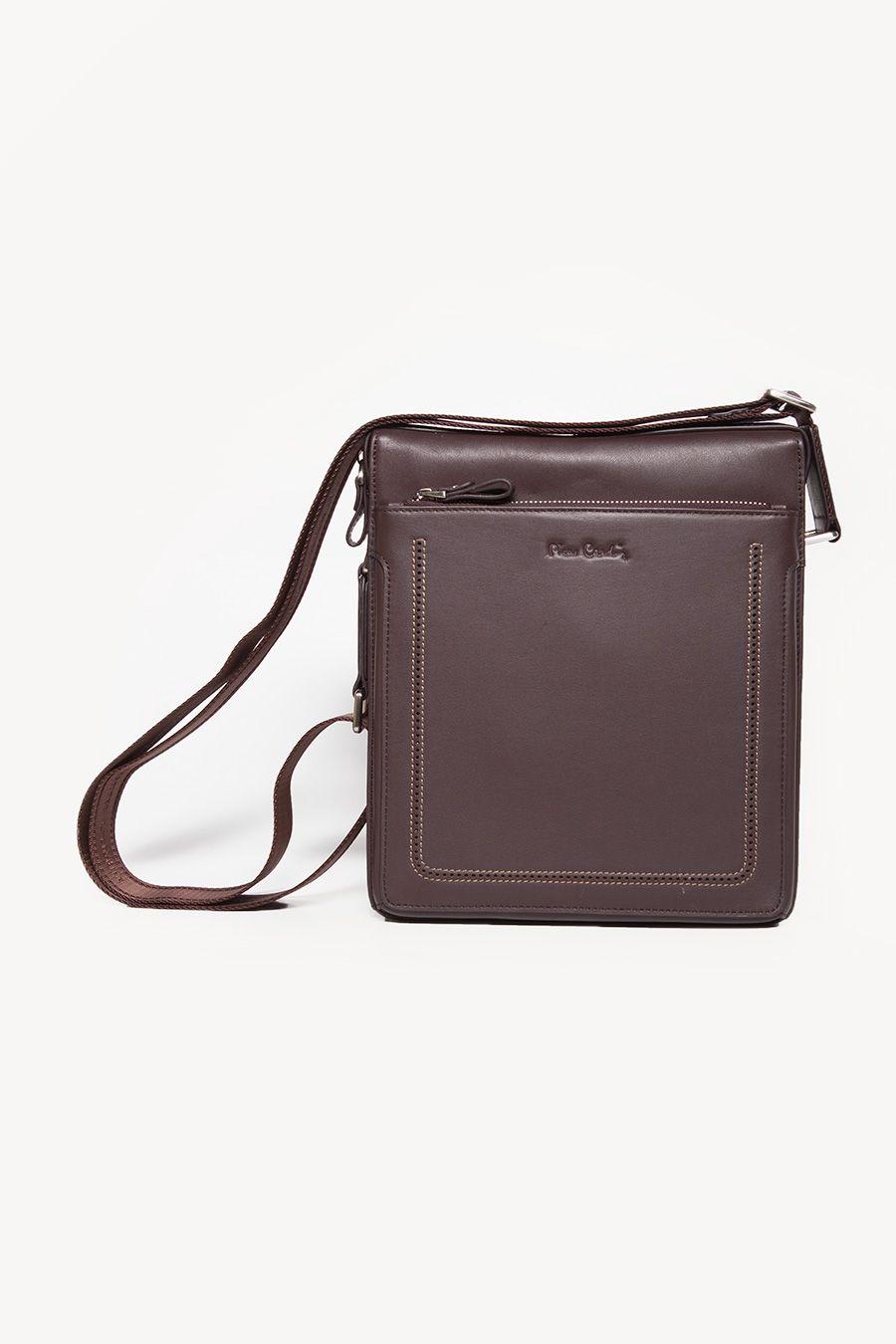 06120f65f Perforated Coffee Sling Bag   Pierre Cardin Men   Pierre cardin ...