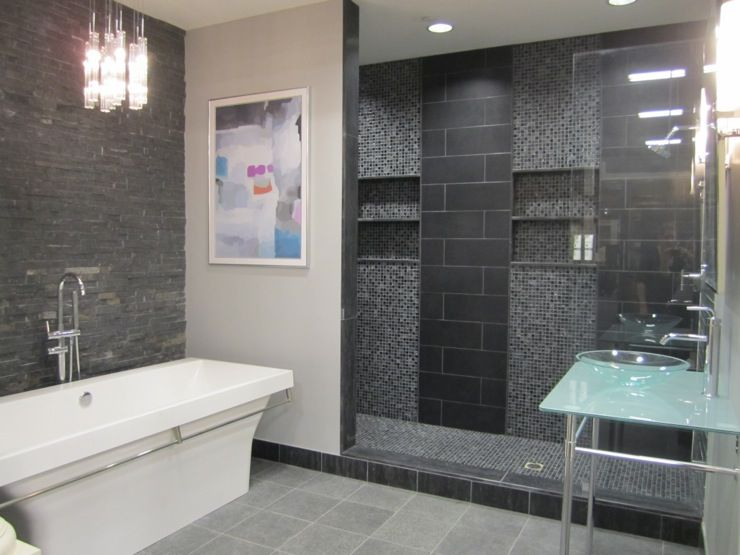 Slate Tiles For Bathroom Walls Bathrooms Slate Glass Ceramic Contemporary