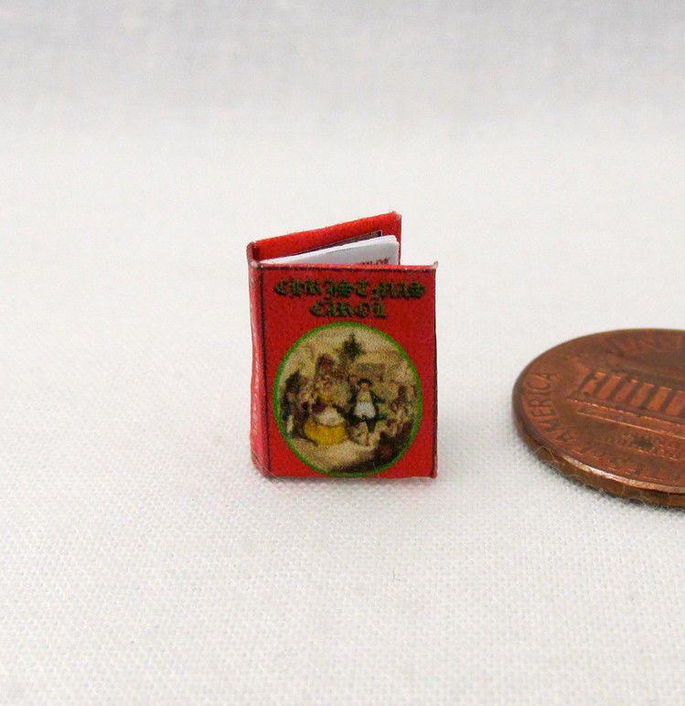 A CHRISTMAS CAROL Charles Dickens Dollhouse Miniatures Book 1:12 Scale Book