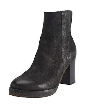 Heeled boots - Wrap London - Serious boots for stomping with a slightly built up front sole and a high heel. With a textured black leather upper and a layered cutwork appliqué detail on the outside ankle.