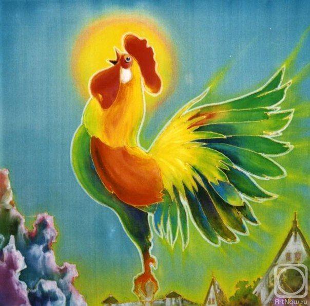Петушок ЗолотойГребешокКартинка Петухи Roosters
