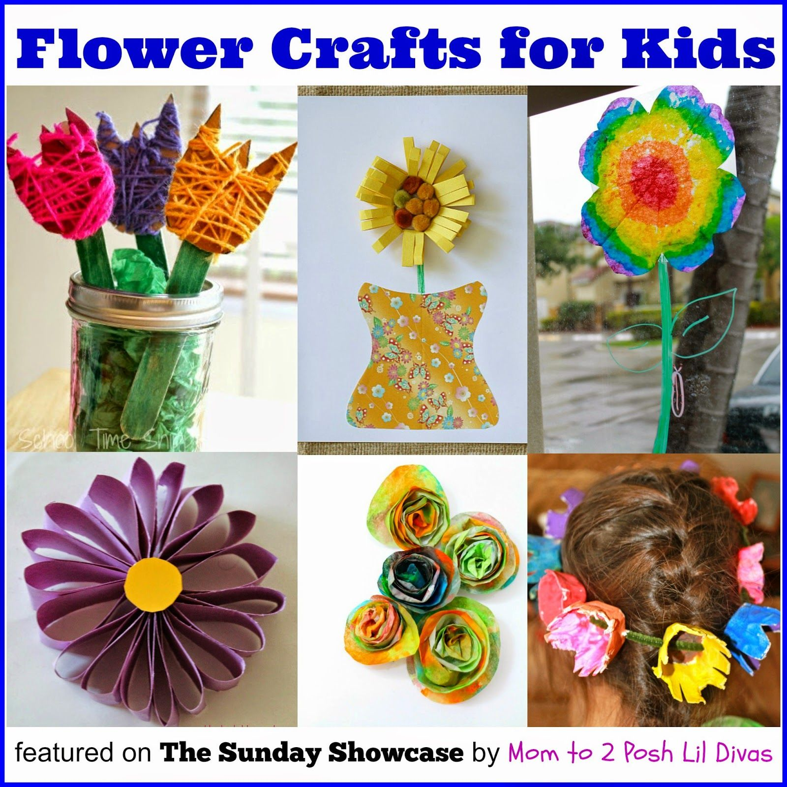 Easy Flower Crafts For Kids Great For Fun Or As Homemade