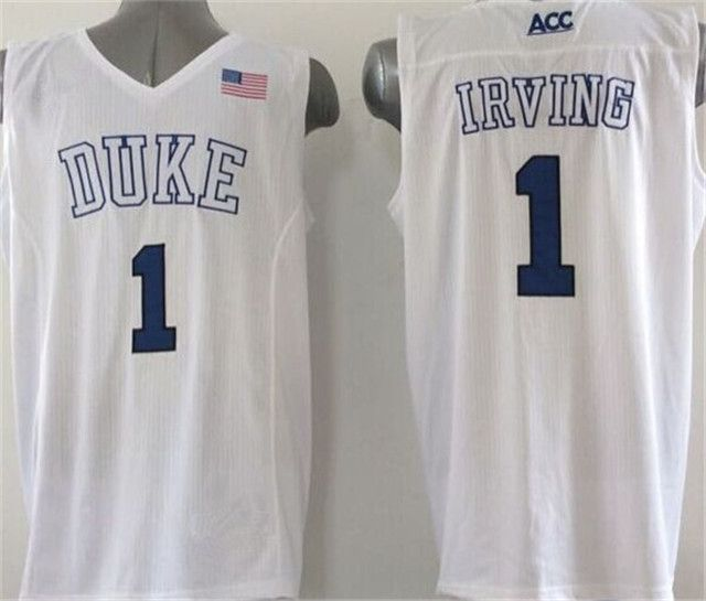 Duke Blue Devils 1 Kyrie Irving Jersey Black White Blue 1 Jabari Parker College  Jerseys Shirt Rev 30 New Material Best Quality-018 11c0694f0