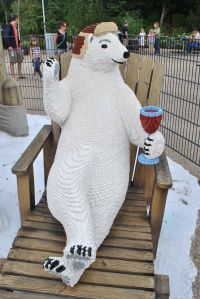 Lego land polar bear