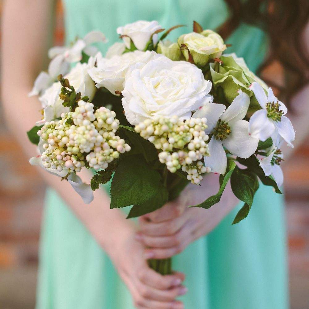Wedding ideas spring  Spring Rose and Dogwood Bouquet  Spring Wedding  Afloral