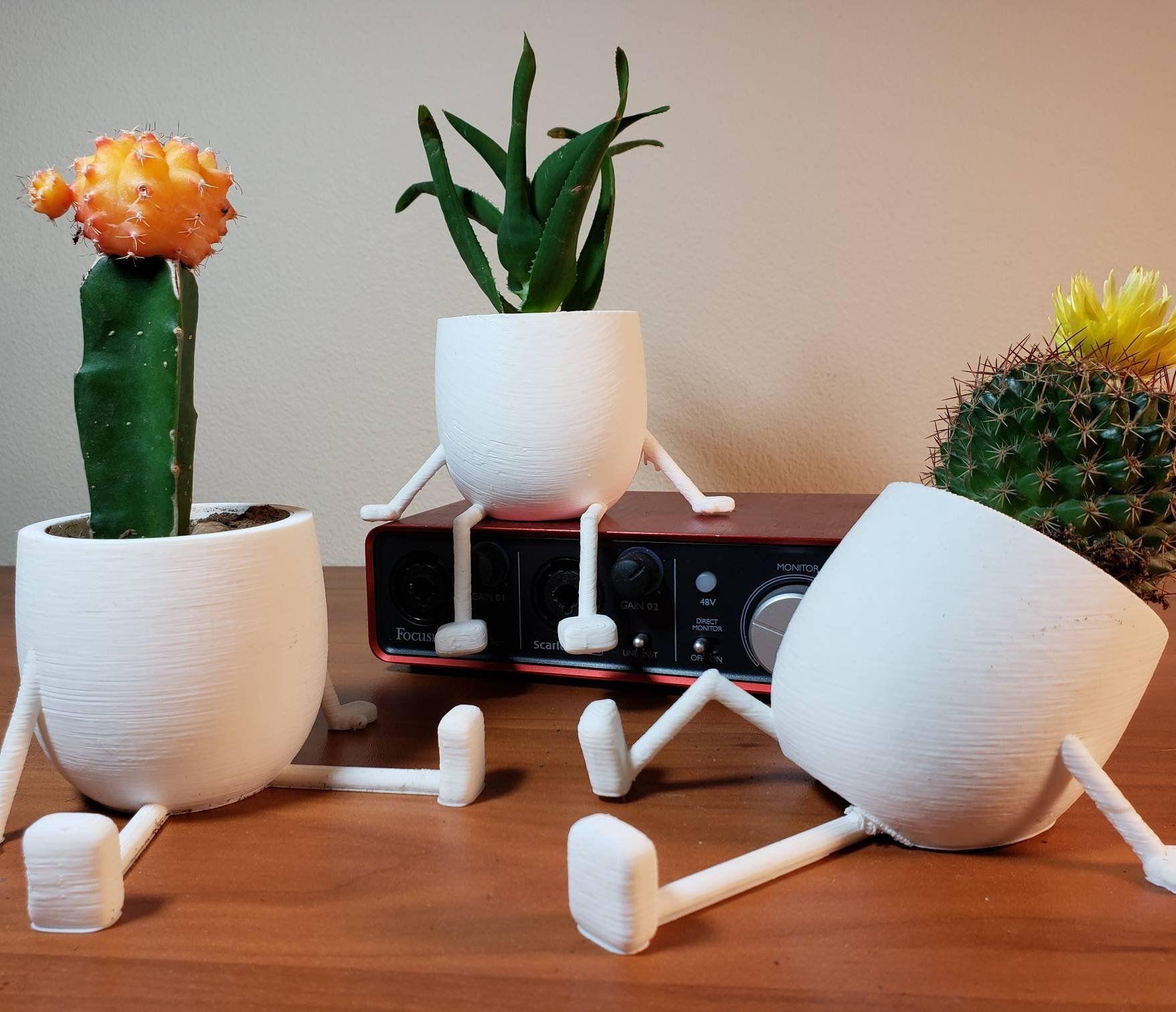 Cute Succulent Planter White Round Planters 3pcs Planter Etsy En 2020 Ideas De Maceta Vasos De Plantas Suculentas Macetas Colgantes