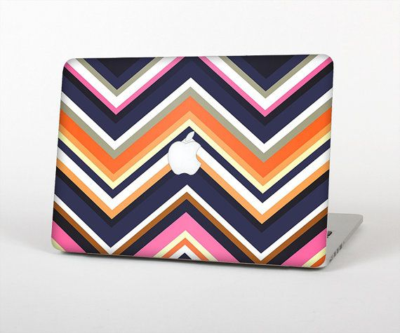 The Solid Pink & Blue Colored Chevron Pattern Skin by TheSkinDudes