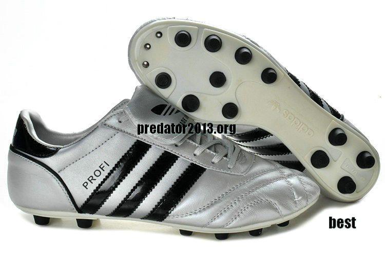 size 40 1c0d8 b63bf Adidas Profi FG Kangaroo Leather Classic Soccer Cleats Silver Black