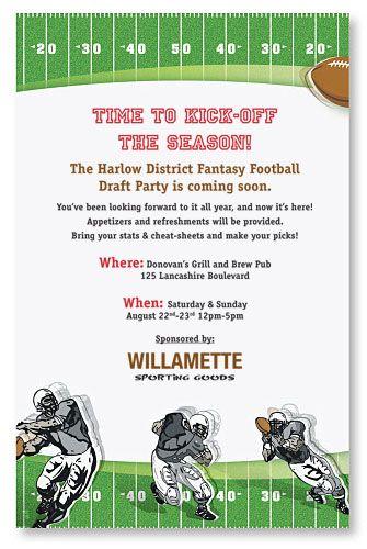 Fantasy Football Invitation Football Invites Football