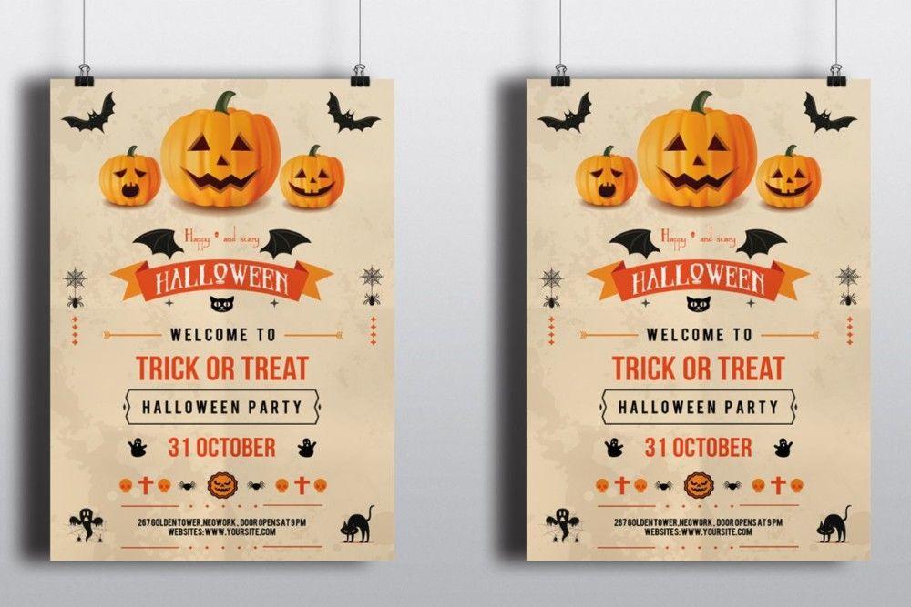 psd-halloween-invitation-template 20+ Halloween Invitation - halloween invitation template