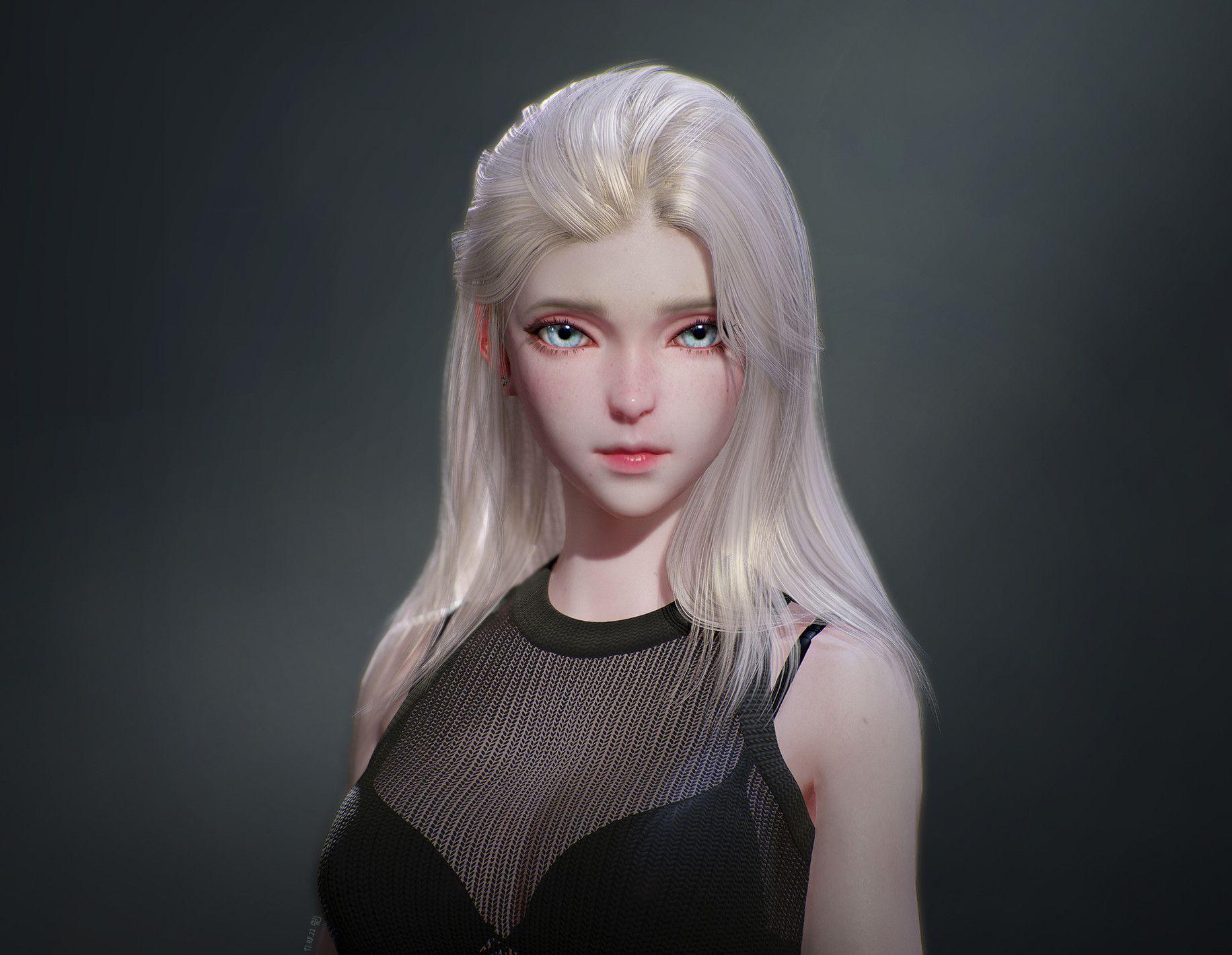 3d model of blonde - photo #39
