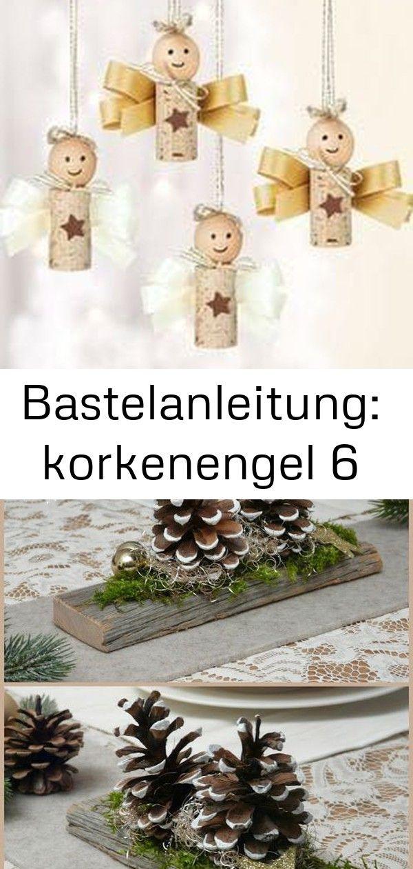 Bastelanleitung: korkenengel 6 #weihnachtlichetischdekoration