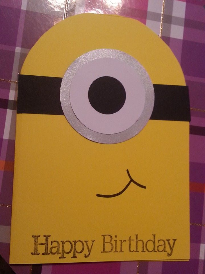 Minion Handmade Kids Birthday Card Cards I Have Made Pinterest