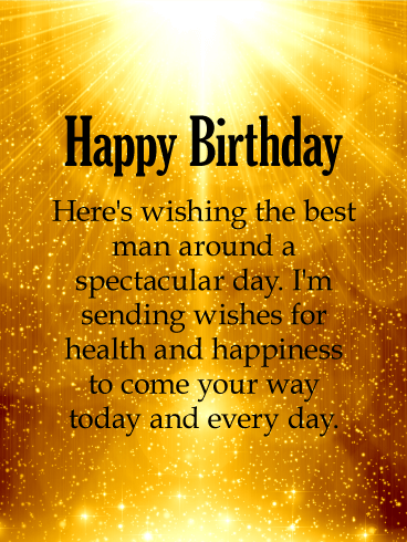 Shinning Gold Happy Birthday Wishes Card Birthday Greeting Cards By Davia Birthday Wishes For Him Happy Birthday Wishes For Him Happy Birthday Wishes Cards