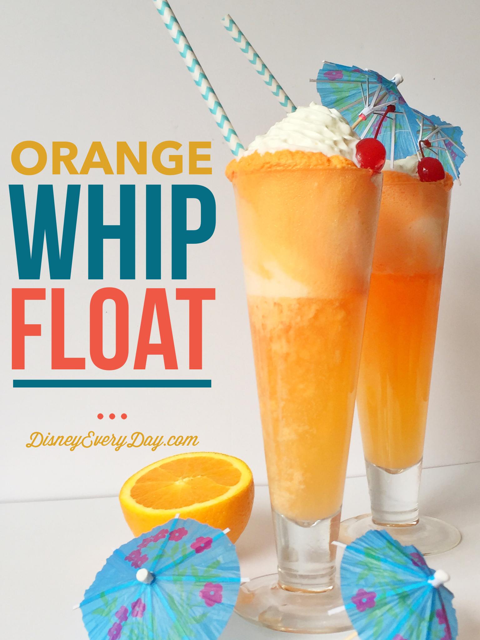Orange Whip Ice Cream Float Ice Cream Floats Frozen Fruit Drinks Summer Ice Cream