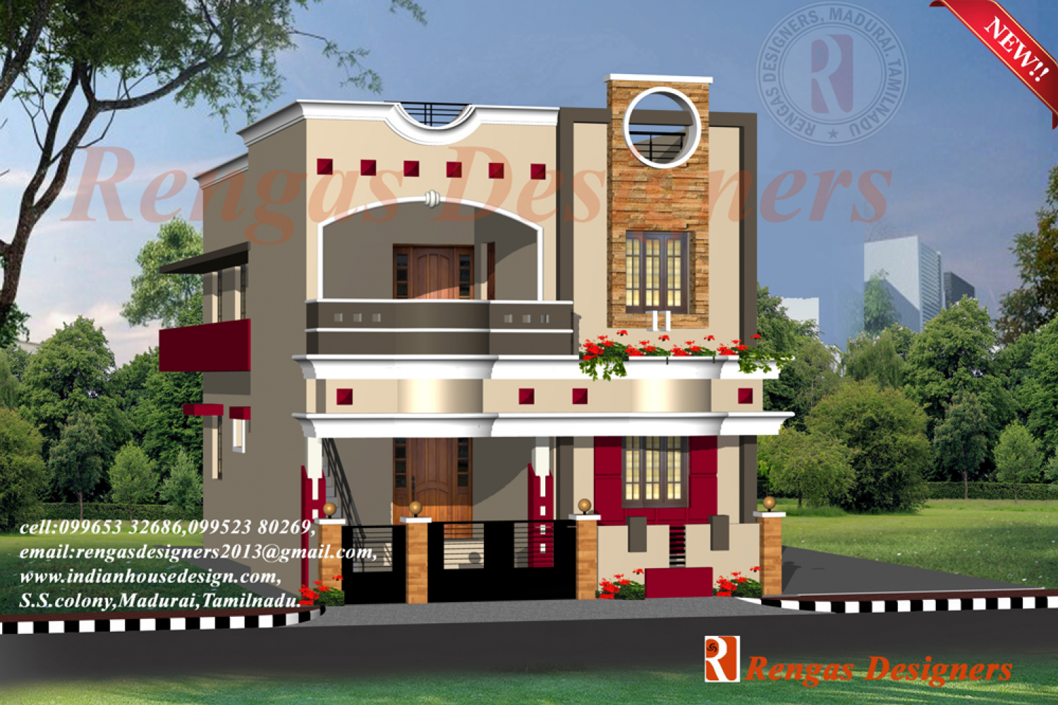 Front Elevation Designs Latest : Normal house front elevation designs
