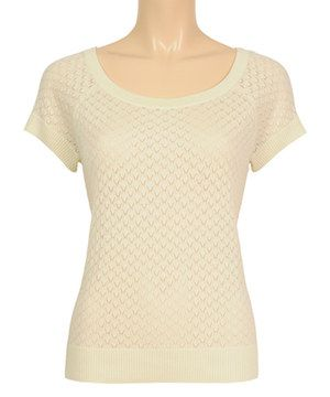 Look at this #zulilyfind! Cream Zigzag Boatneck Top by Louie et Lucie #zulilyfinds