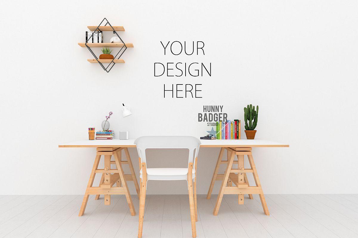 Desk Mockup Wall Art Mock Up 21957 Mockups Design Bundles Mockup Desk Design Bundles Design