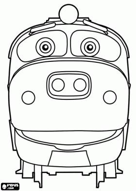 Brewster Thomas Train Birthday Chuggington Birthday Coloring