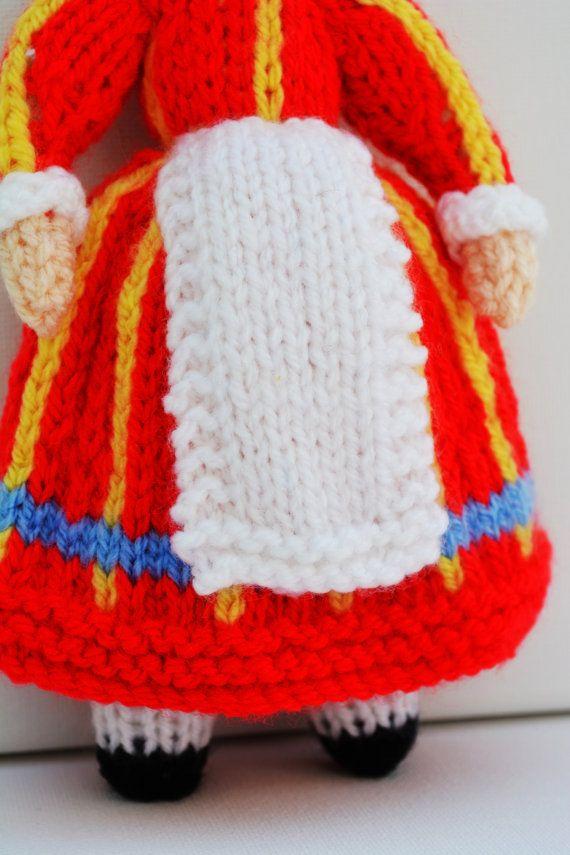 Bettina Danish Folk Doll - Instant Download PDF Doll Knitting ...