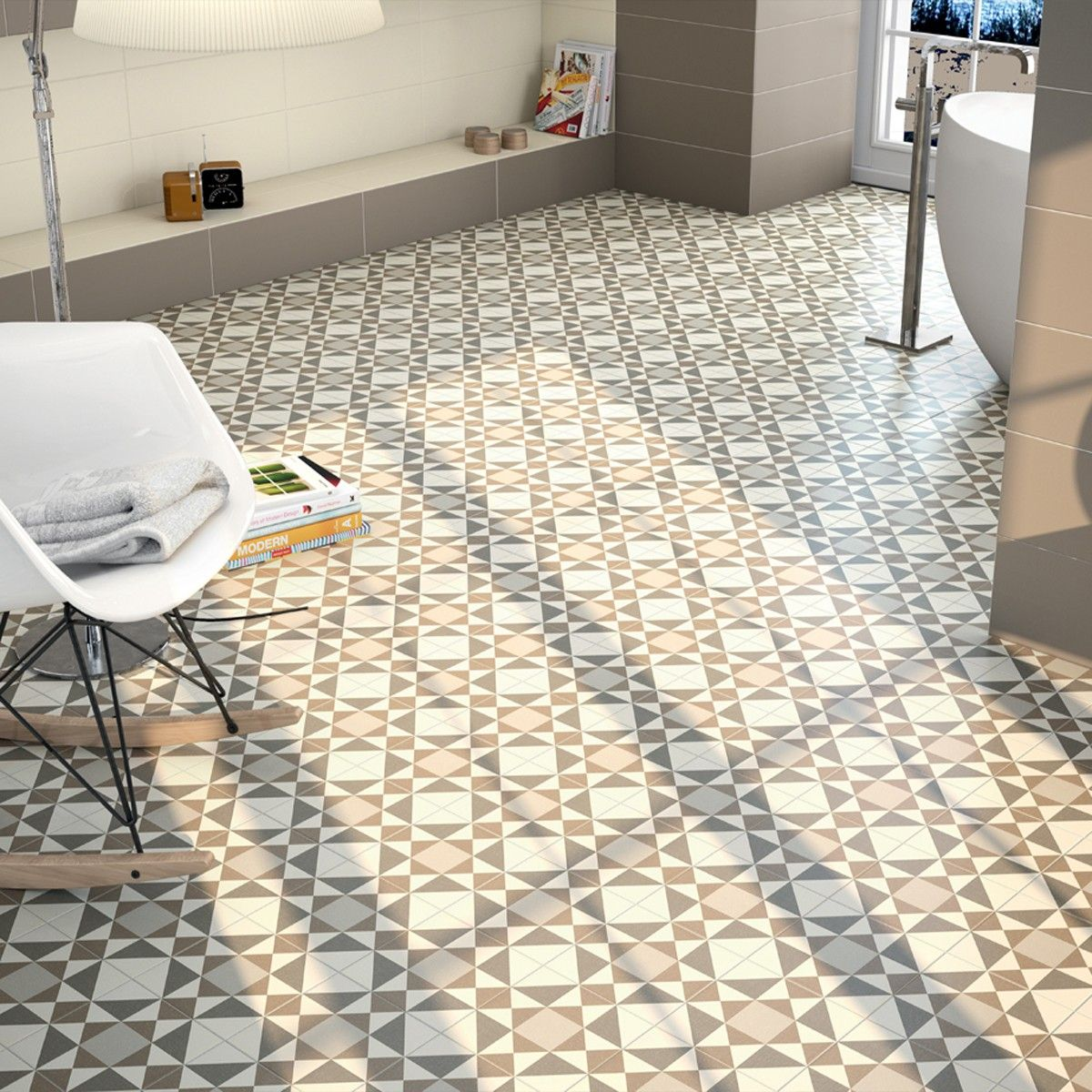 York Beige is a 20x20 diamond pattern ceramic floor tile. www ...