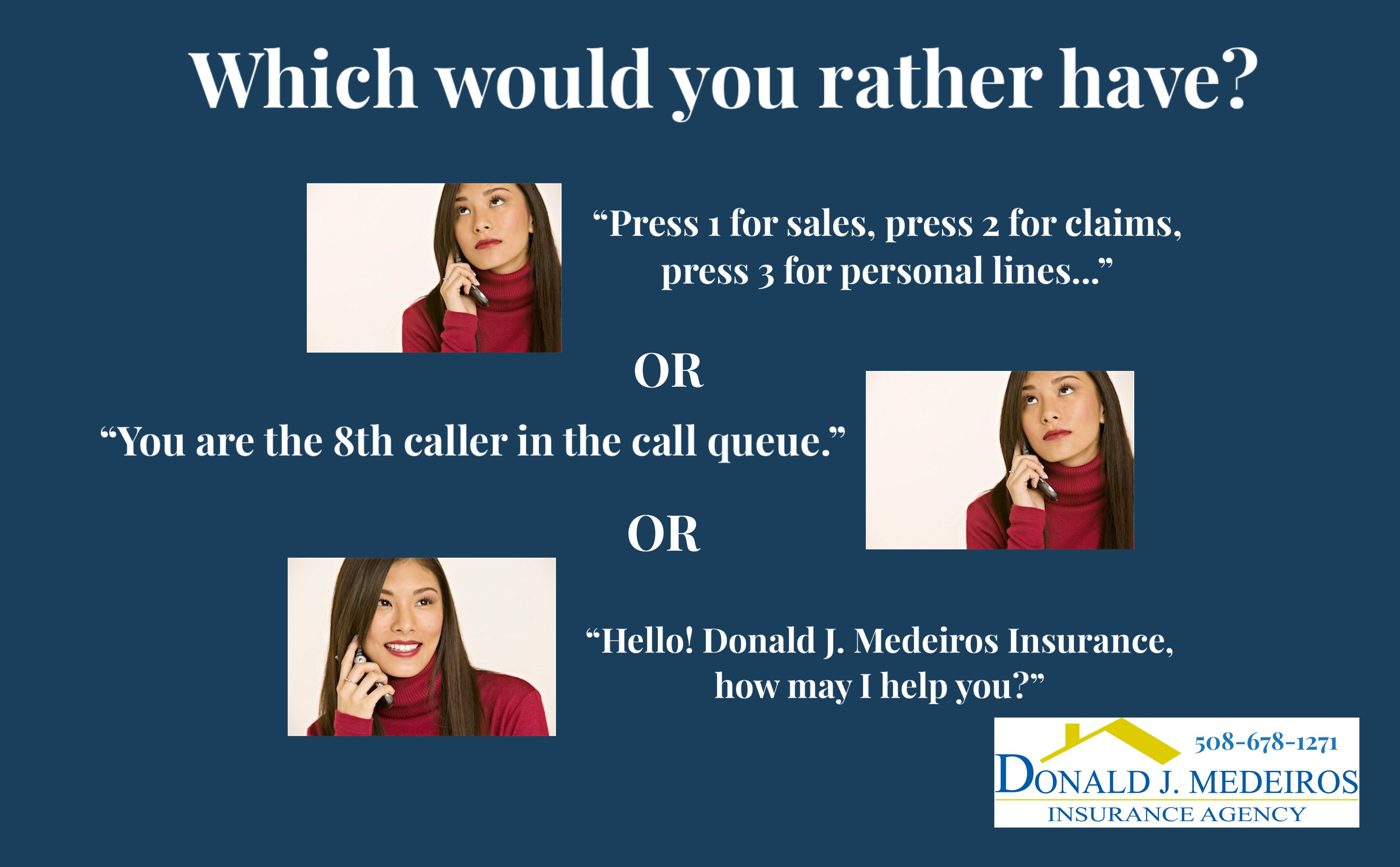 Need Insurance Want To Talk To A Real Person Call Us