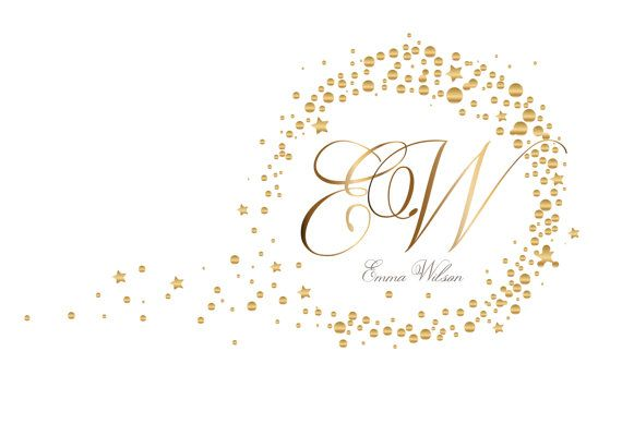 Photography Logo Custom Logo Design Gold Logo Round Circle Dots